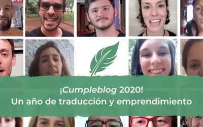 ¡Cumpleblog 2020! Un año de traducción y emprendimiento