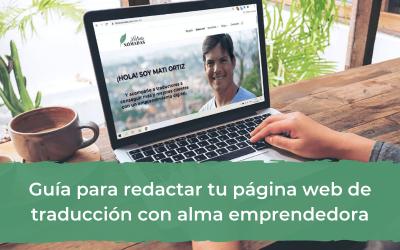 Guía para redactar tu página web de traducción con alma emprendedora